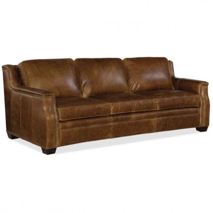 Yates Leather Conversaion Sofa- In Stock Leather Furniture