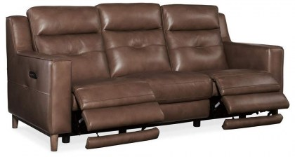 Lachaln Leather Power Reclining Sofa - In Stock