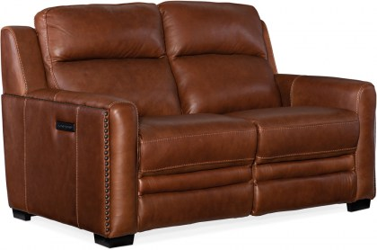 Willa Leather Power Reclining Sofa - In Stock