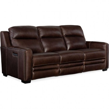 Willamina Leather Power Reclining Sofa - In Stock
