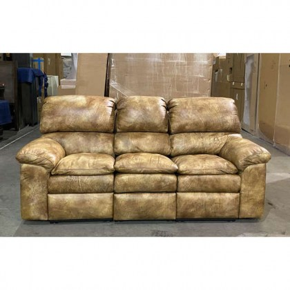 Clearance Leather Reclining Sofa