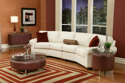West Point Leather 4 Cushion Conversation Sofa