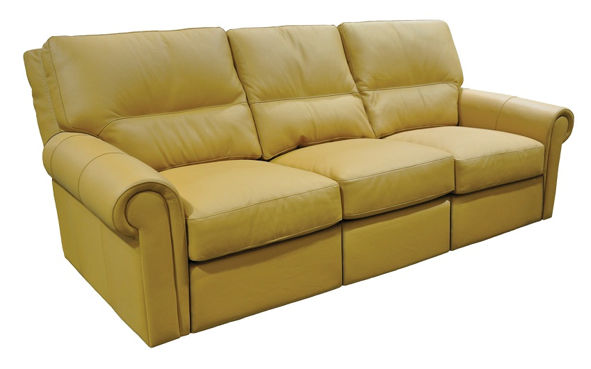 Riley Leather Reclining Sofa