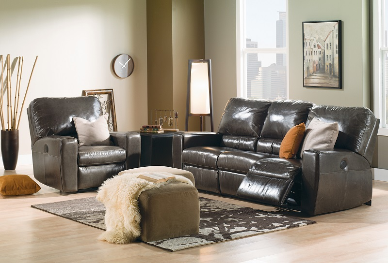 San Francisco Leather Reclining Sofa
