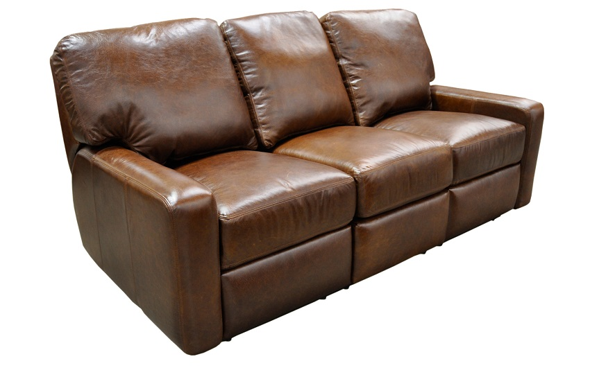 Venetian Leather Reclining Sofa